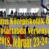 Református Középiskolák Országos Kosárlabda Bajnokságának Programja – 2018. február 23-24. (péntek-szombat)