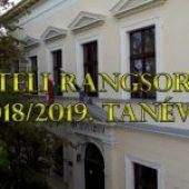 Felvételi Rangsorrend a 2018/2019. tanévre
