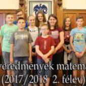 Versenyeredmények matematikából 2017/2018  2. félév