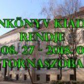Tankönyv Kiadás Rendje – 2018. 08. 27 – 2018. 09. 02.