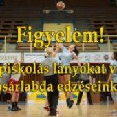 Középiskolás lányokat várjuk a kosárlabda edzéseinkre