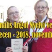 Regionális Angol Nyelvi verseny, Debrecen – 2018. november 16.