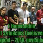 I. Honvédelmi Airsoft Szituációs Lövészverseny, Budapest – 2018. november 15.