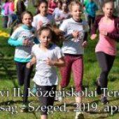 2019. évi II. Középiskolai Terepfutó Bajnokság – Szeged, 2019. április 12.