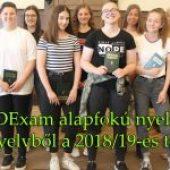 Sikeres DExam alapfokú nyelvvizsgák angol nyelvből a 2018/19-es tanévben