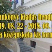 Tankönyv Kiadás Rendje – 2019. 08. 22 – 2019. 09. 01.