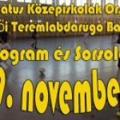 Program és Sorsolás – Református Középiskolák Országos Férfi És Női Teremlabdarúgó Bajnoksága – 2019. november 19.