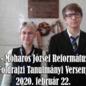 Dr. Hajdú – Moharos József Református Országos Földrajzi Tanulmányi Verseny – 2020. február 22.
