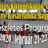 Református Középiskolák Országos Fiú-Leány Kosárlabda Bajnokság Programja – 2020. február 21-22. (péntek-szombat)