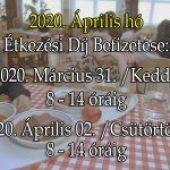 Étkezési Díj Befizetés – 2020. április