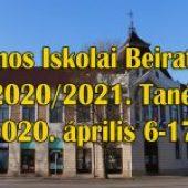 Általános Iskolai Beiratkozás a 2020/2021. Tanévre – 2020. április 6-17.