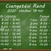 Csengetési Rend – 2021. 10. 18.